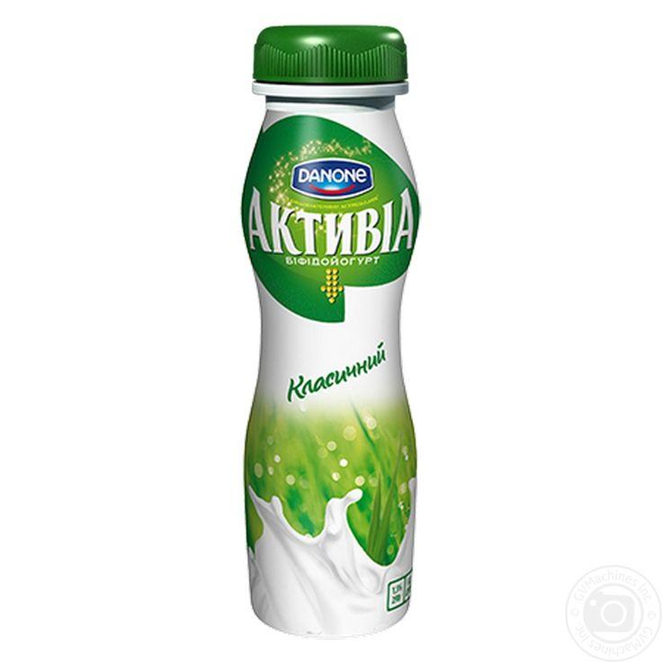 Бифидойогурт питьевой Данон Активиа классический 1.5% пластиковая бутылка 290г  Калорийность 52.00ккал Белки 3.00г Углеводы 4.50г Жиры 2.40г