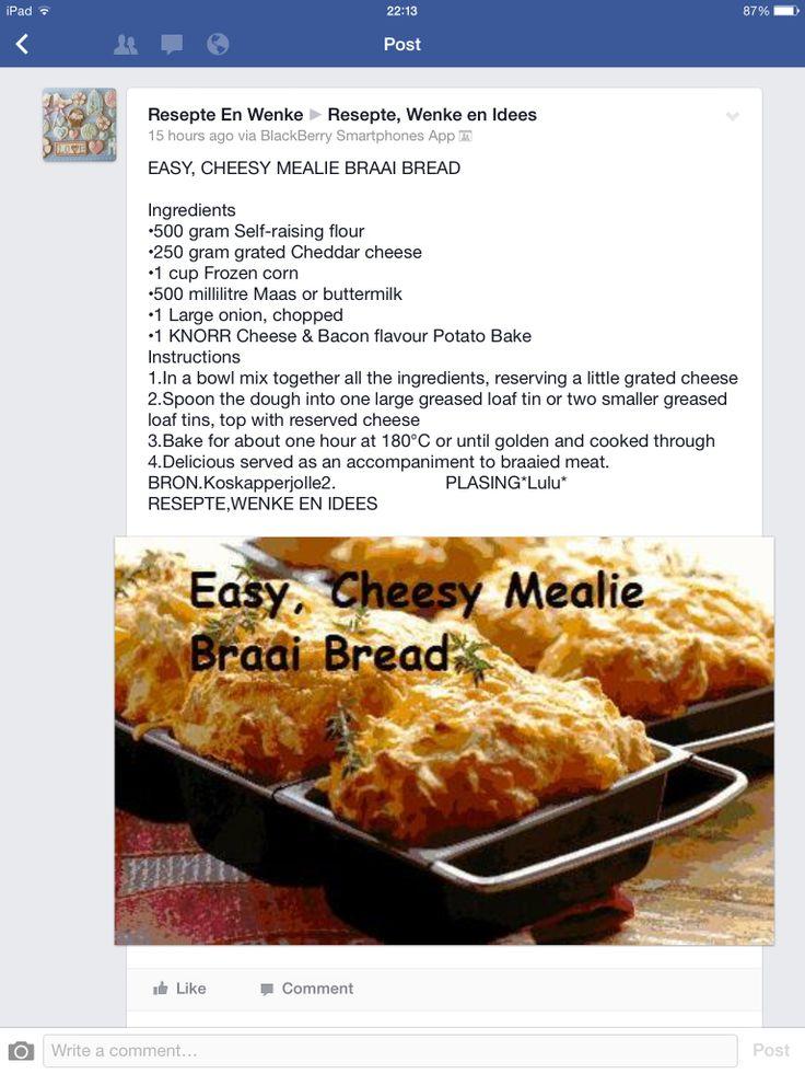 Easy Cheesy Mealie Braai Bread