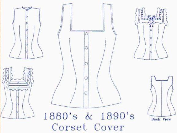 Korsett Abdeckung Muster: Viktorianische Schnittmuster, Multi Größe Unterwäsche Muster. 1880-9 von MantuaMakerPatterns auf Etsy https://www.etsy.com/de/listing/83875930/korsett-abdeckung-muster-viktorianische