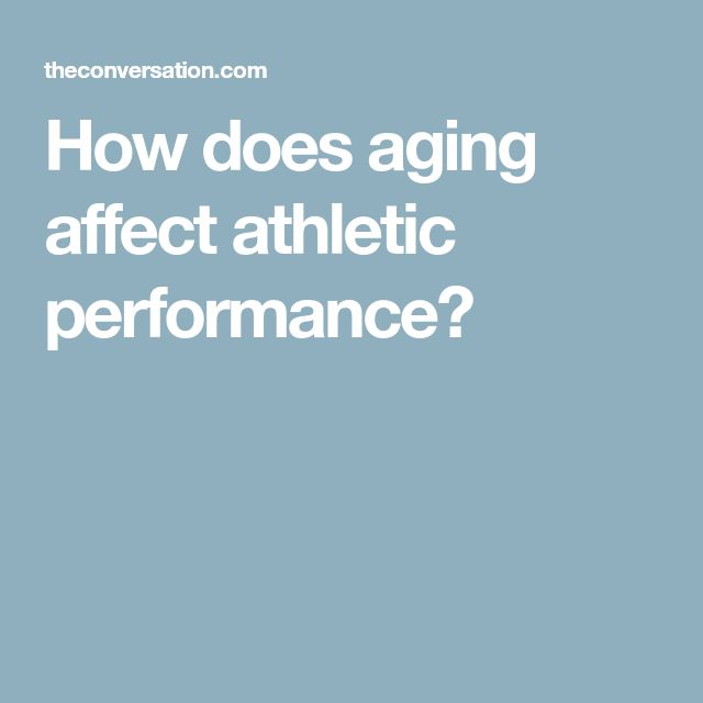 How does aging affect athletic performance?