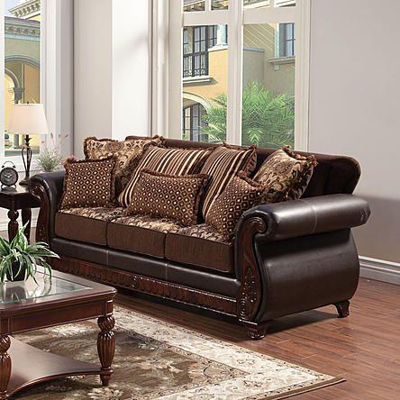 Furniture Of America Eleanor Traditional Style 2 Toned Sofa Living Room Redo Pinterest