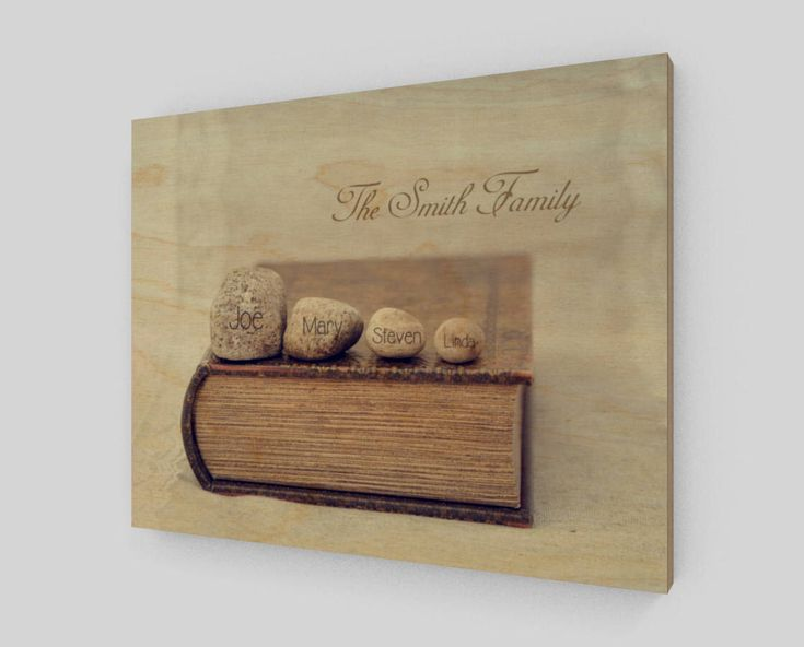 Family Name Sign - Family Personalized Wood Sign - Family Rocks Art - Photo Wood - Anniversary Gift For Parents - Unique Wood Gifts by WoodnPix on Etsy https://www.etsy.com/listing/577929115/family-name-sign-family-personalized