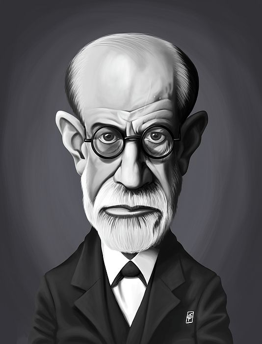 Sigmund Freud art | decor | wall art | inspiration | caricatures | home decor | idea | humor | gifts