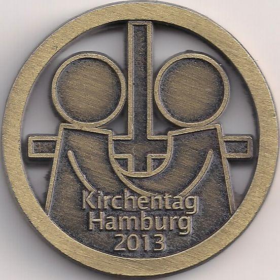 Wertseite: Jetons-Europa-Mitteleuropa-Deutschland-Michaelshof-Rostock-2013-Hamburg-Kirchentag