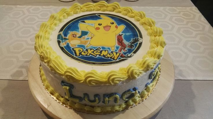 Tort z pokemonem
