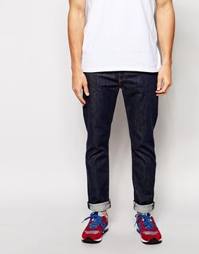 Levi's – 522 Big Bend Raw – Stretch-Karottenjeans in schmaler Passform 100€