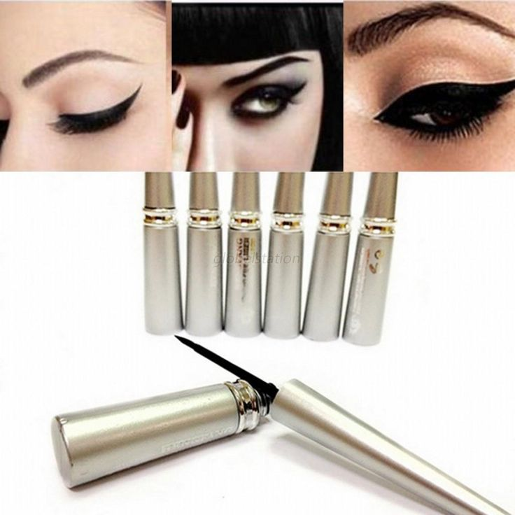1pcs Women Waterproof Black Eyeliner Liquid Eye Liner Pencil Pen Make Up Fashion Comestics Wholesale