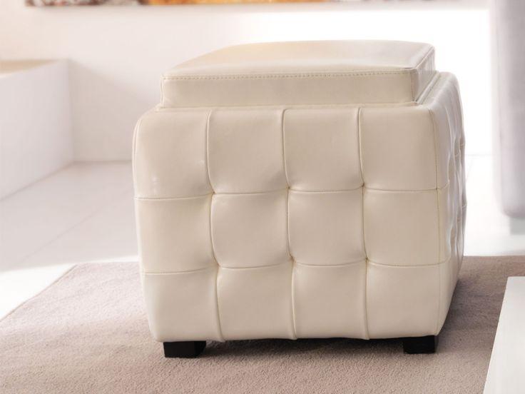L'elegante pouf de L'Oca Nera è anche un comodissimo contenitore in cui riporre coperte, giornali, giochi o telecomandi. Non solo. Il coperchio, girandosi, diventa un pratico vassoio. Così, con pochi gesti, questo pouf si trasforma in un vero e proprio tavolino. Prezzo: € 330,00. Visita il nostro sito  www.righouse.it per scoprire altri incredibili prodotti nel nostro shop on-line.