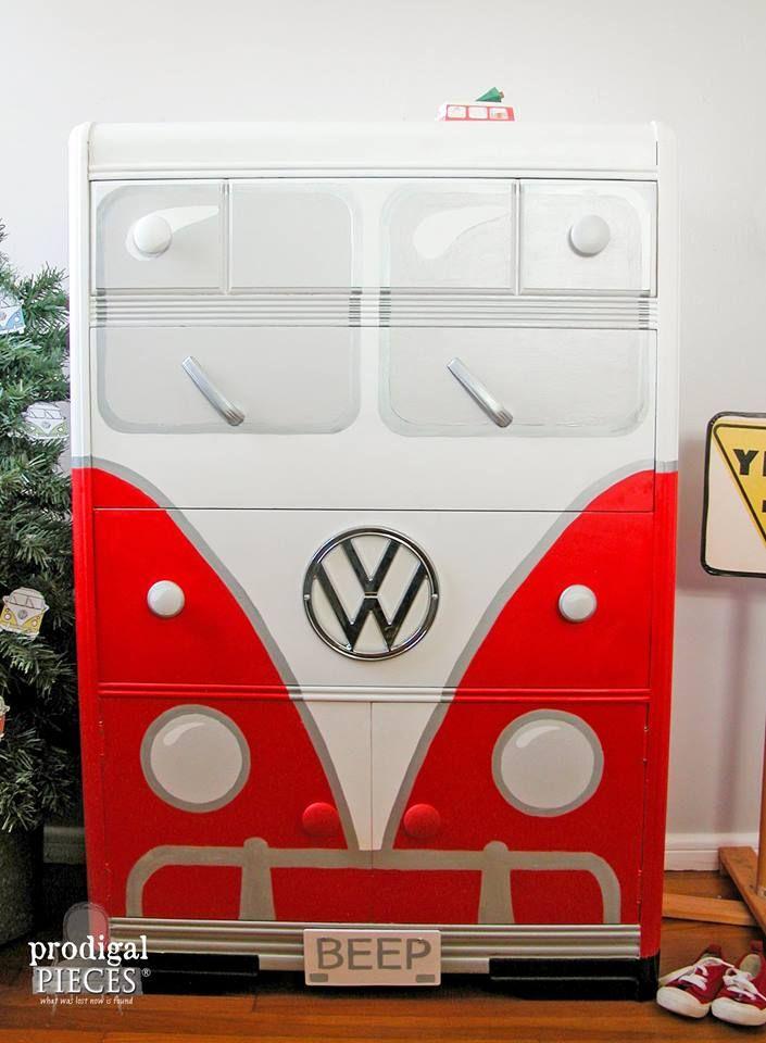 57 best volkswagen bus dressers images on Pinterest   Bedrooms ...