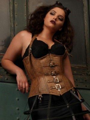 Plus Size Ophelia Underbust Leather Corset