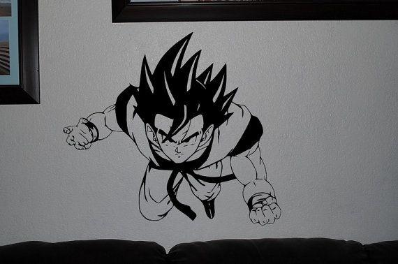Goku dbz dragon ball wall decals anime mural arts by for Dragon wall mural