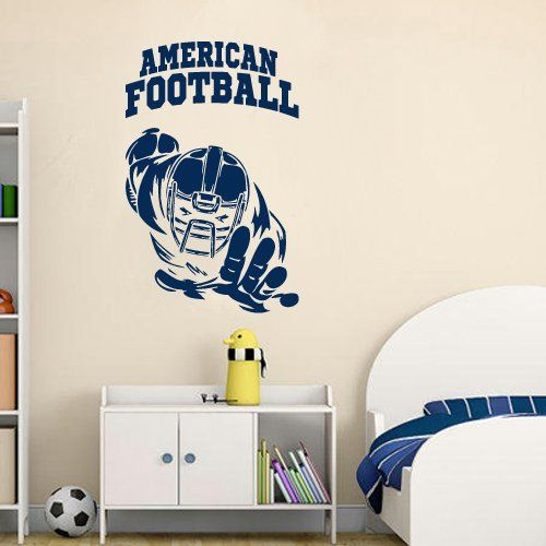 Wall Decal American Football Rugby Sport Helmet Play Man Ball rugby kids M1733. Thank you for visiting our store!!! Please read the whole description about this item and feel free to contact us with any questions! Vinyl wall decals are one of the latest trends in home decor. Vinyl wall decals give the look of a hand-painted quote, saying or image without the cost, time, and permanent paint on your wall. They are easy to apply and can be easily removed without damaging your walls. Vinyl…
