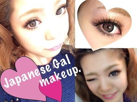 Japanese Gal Makeup/たれ目ギャルメイク - YouTube