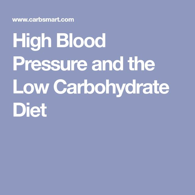 High Blood Pressure and the Low Carbohydrate Diet