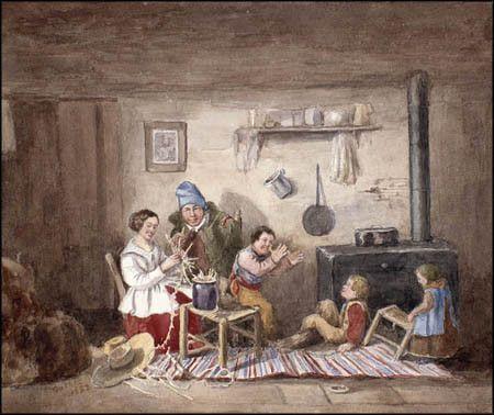 Habitants by Cornelius Krieghoff (1852) #newfrance #historicalfashion