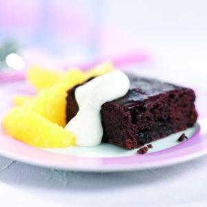 Guilt free chocolate orange brownies :: easy cake recipe