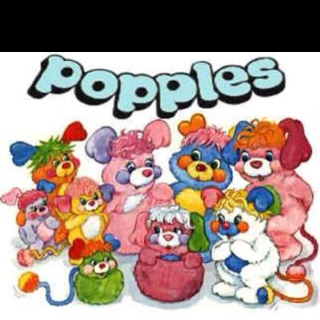 Popples! OMG! Now I want one so that I may relive my childhood, if for only a few moments.