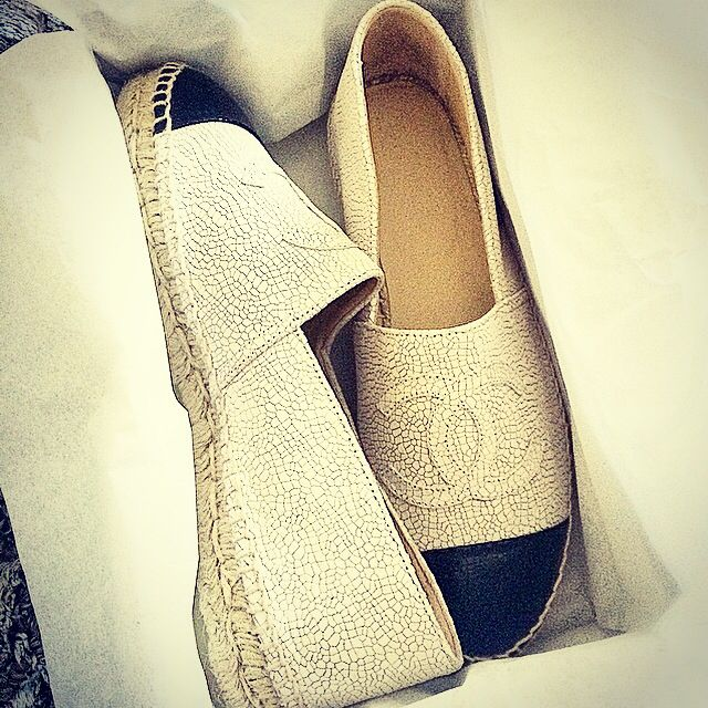 #Chanel espadrilles ! Do confortable ! Love them !!!