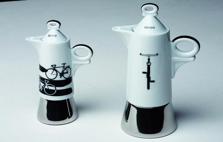 """""""Italia in bici"""" su Espressine: caffettiere in porcellana"""