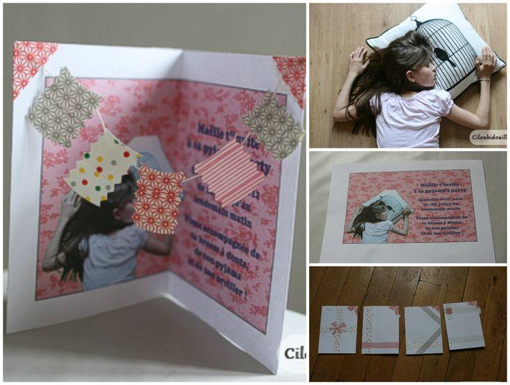 anniversaire enfant invitation pyjama party diy pour les p 39 tis pinterest parties. Black Bedroom Furniture Sets. Home Design Ideas