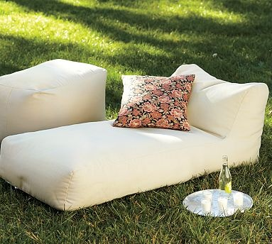 Solid Outdoor Chaise #PotteryBarn #furniture #decor