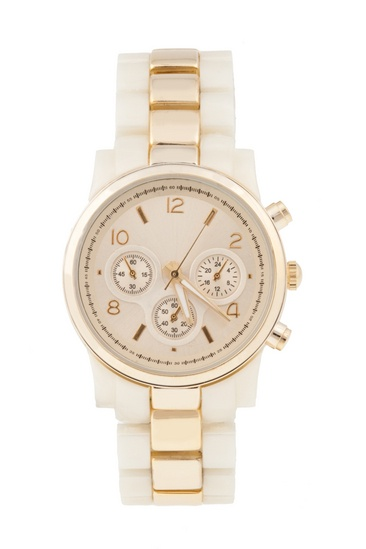 I am still undecided about the gold watch trend, but I do