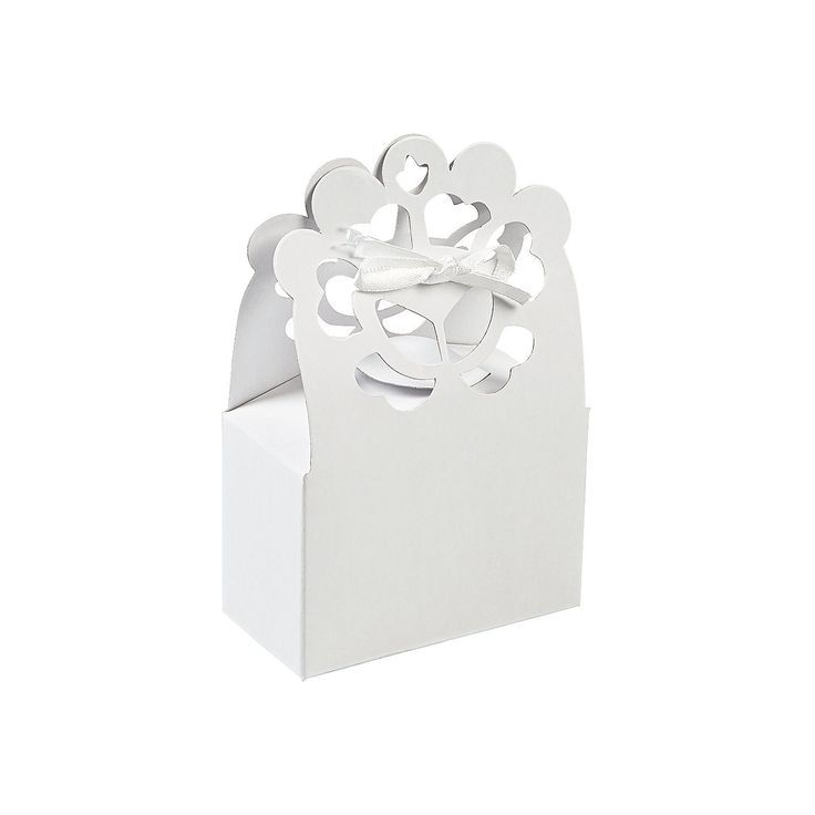 Lace Favor Boxes, Paper Favor Boxes, Party Bags & Containers, Party Favors, Party Supplies - Oriental Trading