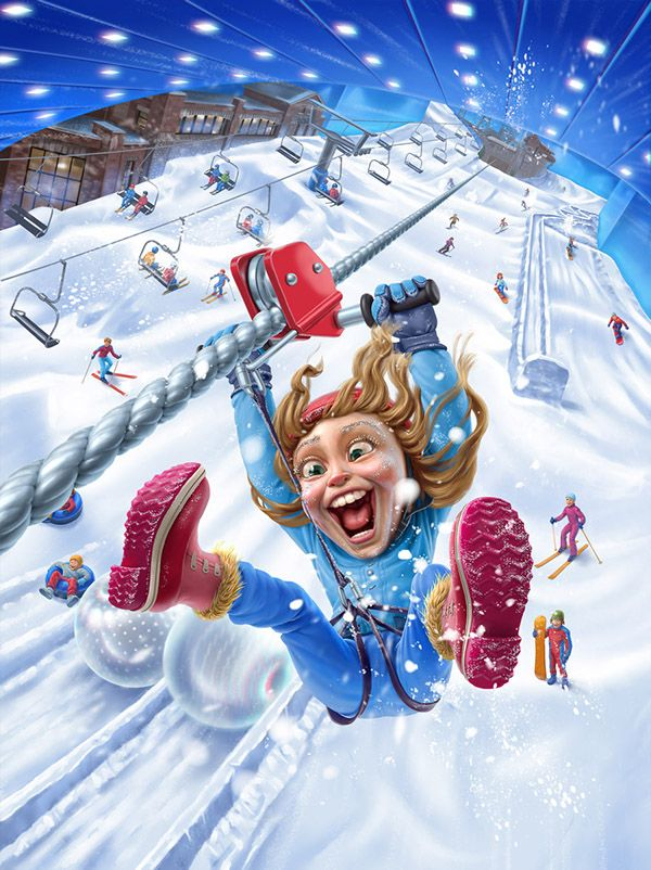 Ski Dubai by Oscar Ramos, via Behance ★ Find more at http://www.pinterest.com/competing/