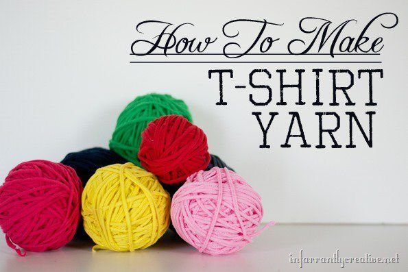... this tutorial to learn how to make t-shirt yarn from old shirts