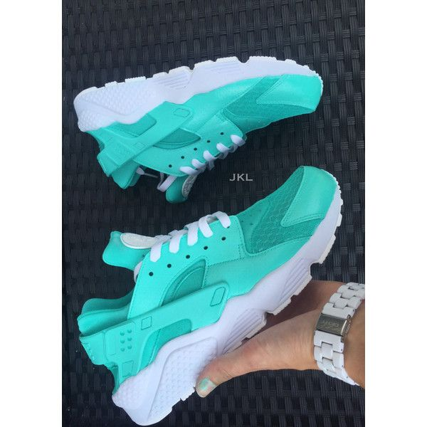 Tiffany Nike Air Huarache Customs White Sole Huarache Unisex Nike... ($195) ❤ liked on Polyvore featuring shoes, athletic shoes, grey, sneakers & athletic shoes, unisex adult shoes, blue color shoes, gray shoes, white-sole shoes, water proof shoes and grey shoes