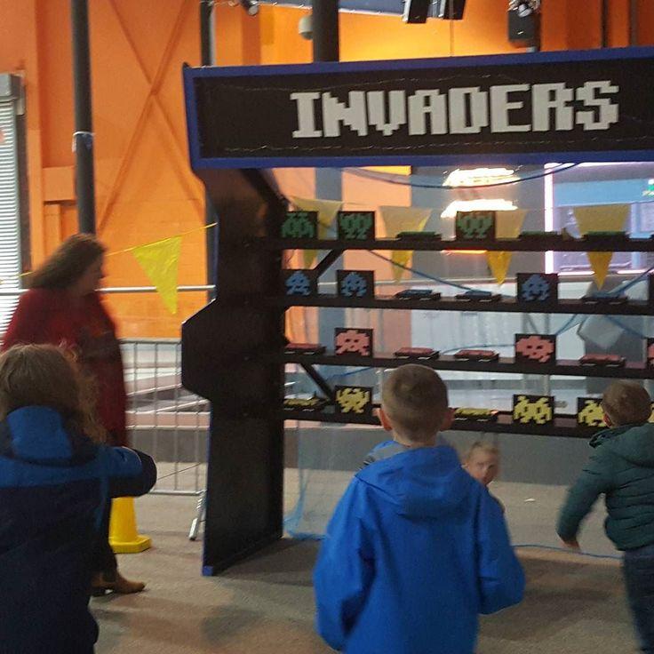 Retro Space Invaders fun at #actualrealityarcade for #LeedsLightNight
