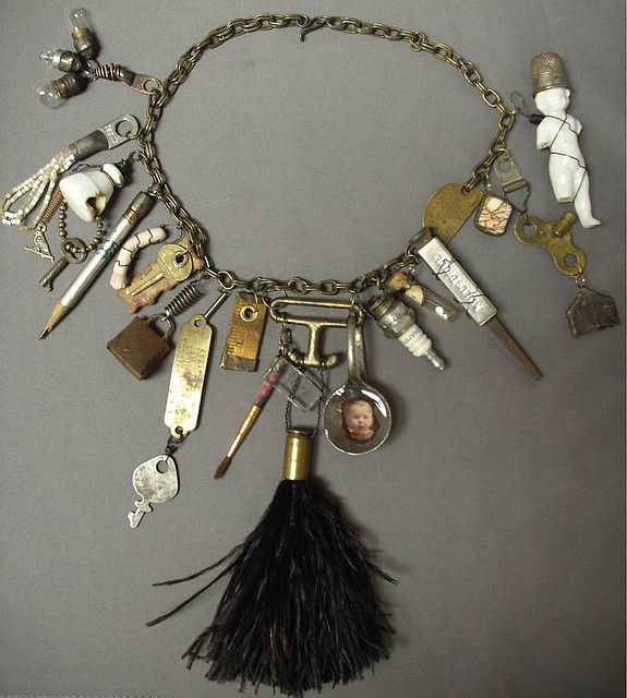 Found Object Necklace  by rasslinmiss, via Flickr