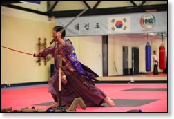 What is Kummooyeh? Kummooyeh is a Korean style of Swordsmanship. It is a modern adaptation of sword techniques described in an ancient Korean Martial Arts book written in 1599 called the Moo Yeh Do Bo Tong Ji which covers a variety of Korean Martial Arts.  http://www.academymartialarts.com/item/17-haedong-kumdo