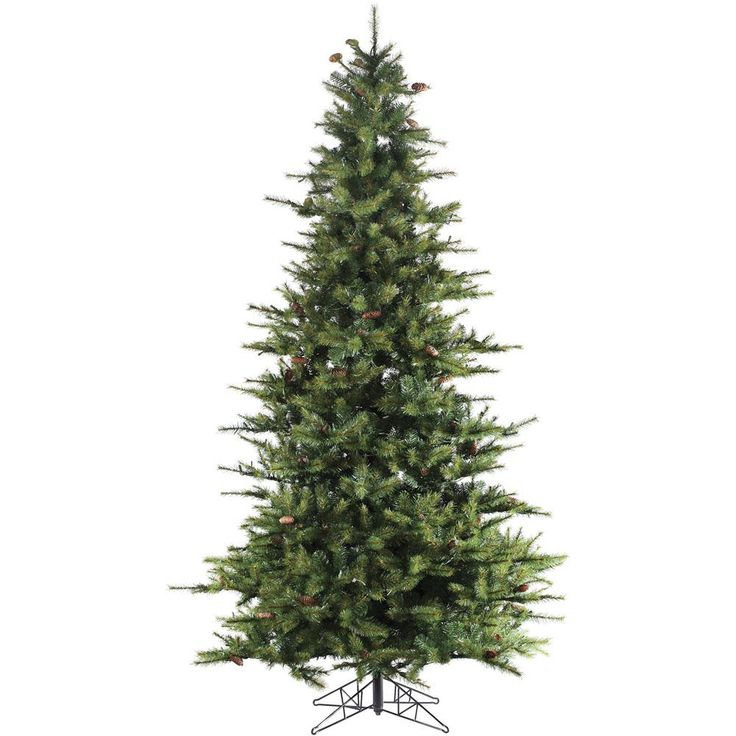 6.5 ft. Unlit Southern Peace Pine Artificial Christmas Tree, Greens