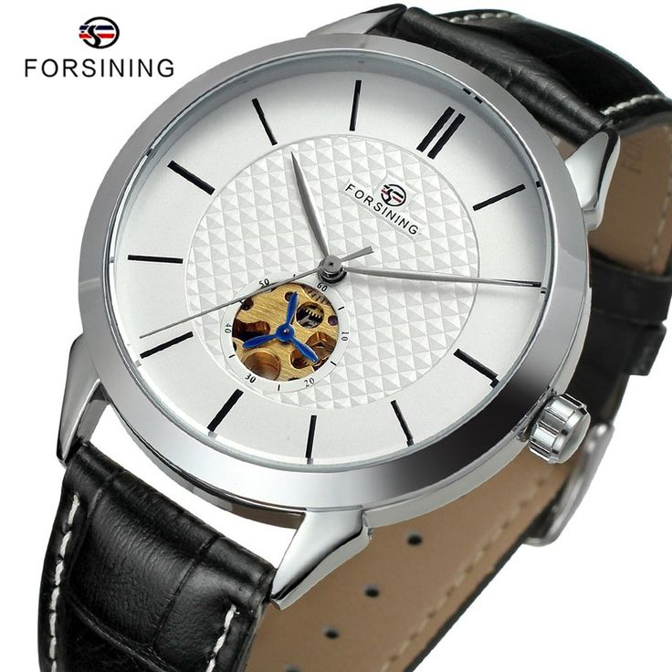Find More Mechanical Watches Information about 4 Colors FORSINING Brand Fashion Men's Leather Band Skeleton Automatic Mechanical Luxury Men Watch Mens Clock relogio masculino,High Quality clock measurement,China watch mobile cell phone Suppliers, Cheap watch submariner from YIKOO Watches Store on Aliexpress.com
