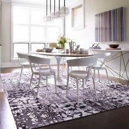 Waxing Poetic: Dining Rooms, Carpets Tile, Wax Poetic, Tile Patterns, Carpets Ideas, Master Bedrooms, Flor Wax, Beds Rugs, Dining Tables