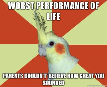 """Or you give the best performance of your life. Mom whispers to person next to her """"It's okay, she's just nervous!"""""""