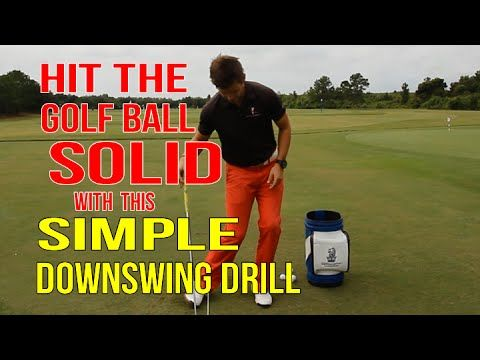 Simple Golf Downswing Drill - Better Ball Striking - YouTube