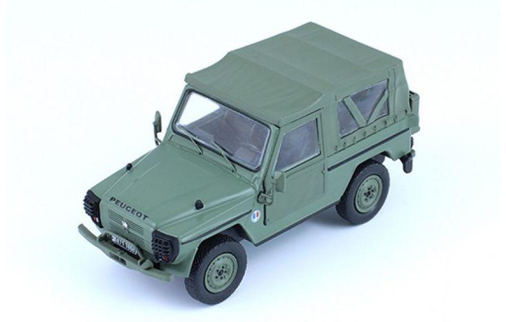 Peugeot P4 - Matt Olive Military - Die-cast | Hobbyland