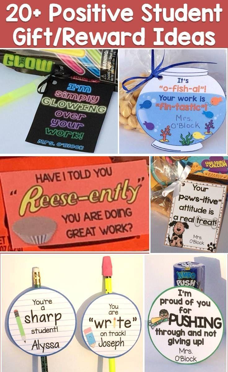 Classroom Reward Ideas High School : Student gift ideas tags for positive reinforcement