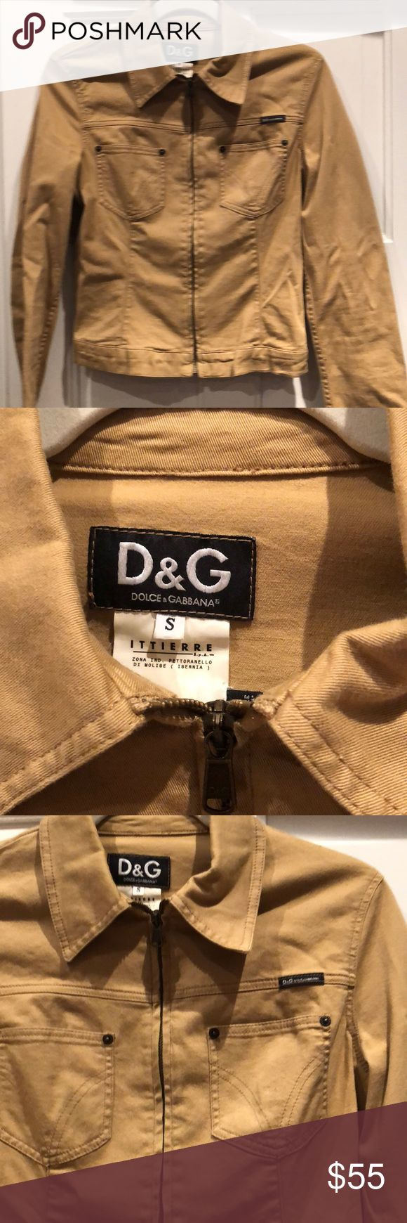 Tan D&G Jena jacket Very cute and nice fit. Only used a