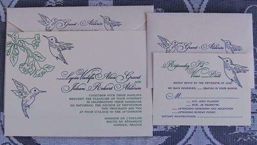 Hummingbird Wedding Invitations: 11 Best Hummingbird Invites Images On Pinterest