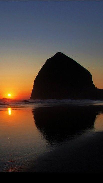 Sunset on Haystack Rock near Cannon Beach,Oregon • Justin Kraemer Photography on Flickr