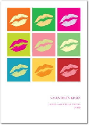 Signature White Valentine's Day Greeting Cards Kiss Kiss