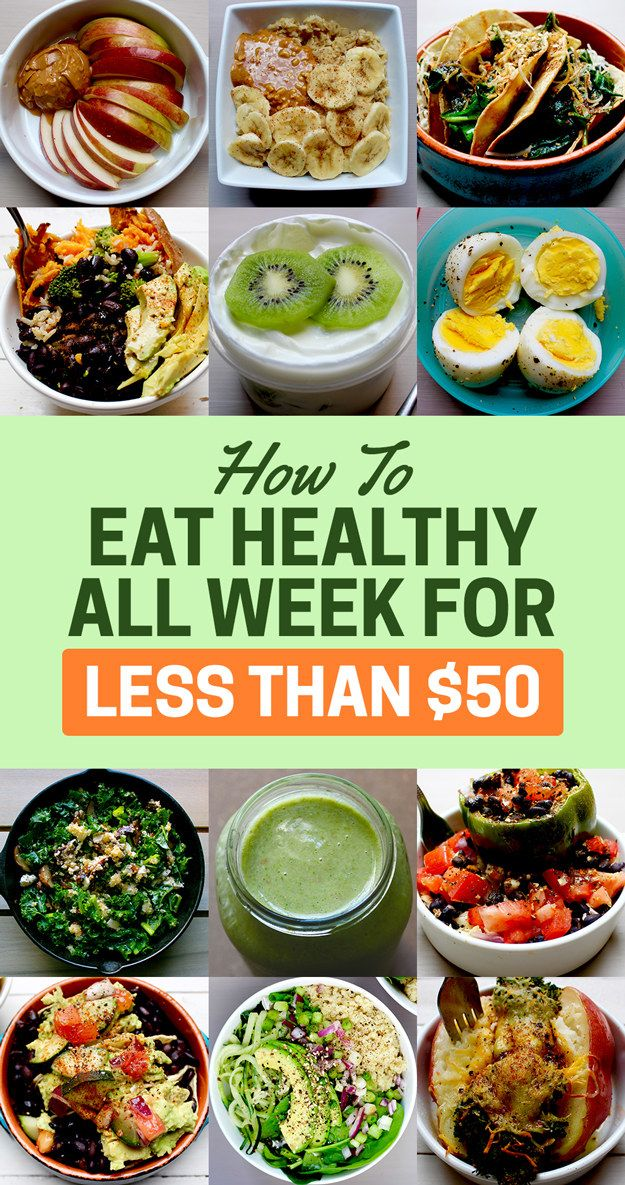 Here's How To Eat Healthy For A Week With Just 50