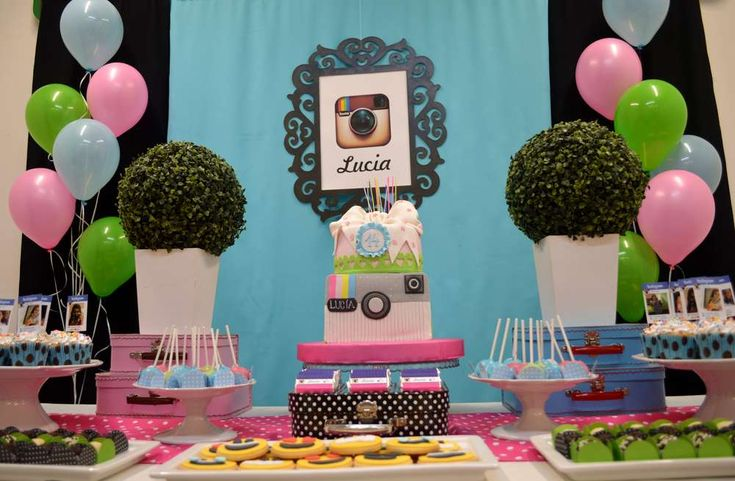 Instagram, Facebook party Birthday Party Ideas | Photo 2 of 16 | Catch My Party