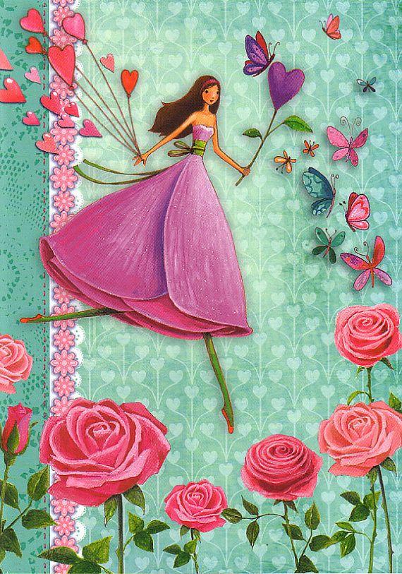 Notebook DIN A5 Rosegirl by Mila Marquis por MarquisWonderland