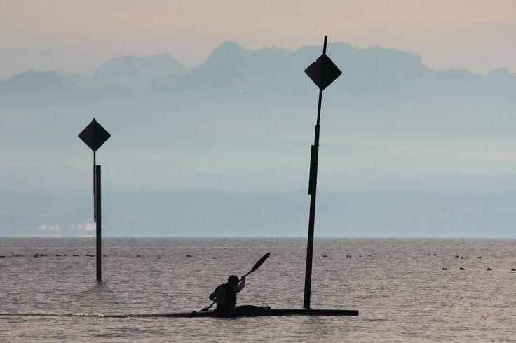 Wasserslalom für Anfänger auf dem Bodensee