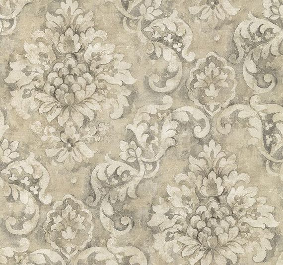 Wallpaper By The Yard Antiqued Distressed Charcoal