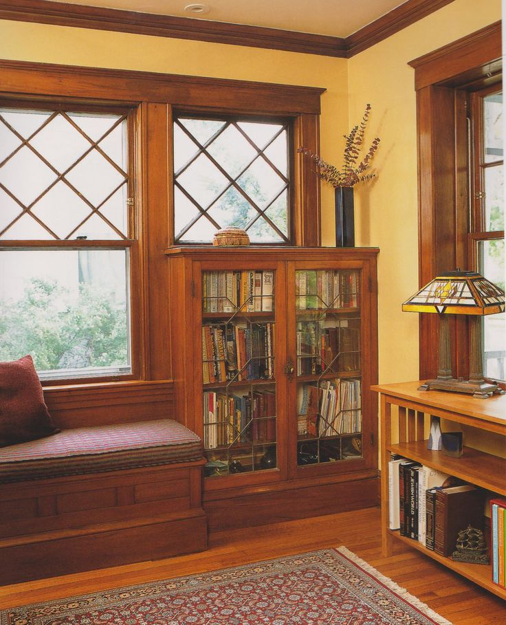 Built-ins were a trademark of the Craftsman style of the early 1900s through the 1920s.
